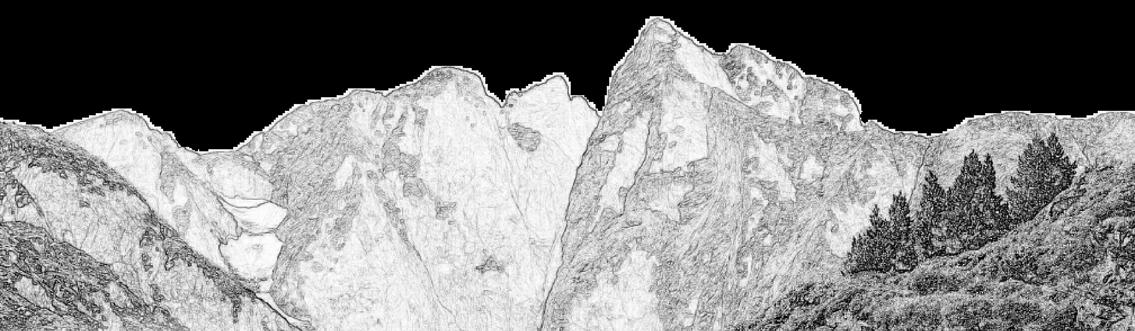 Un dessin du pic du Vignemale.